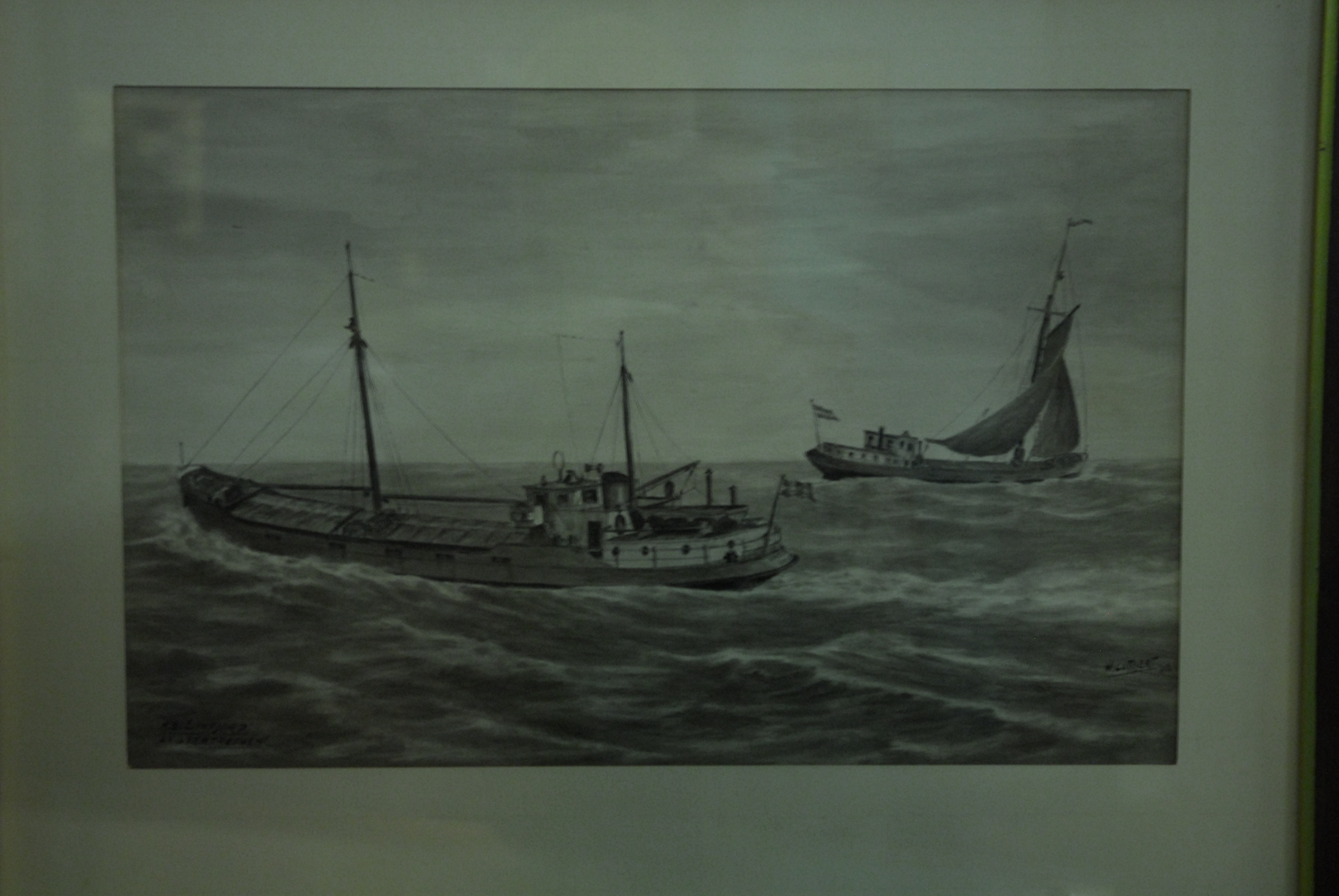 pentekening van 'Limfjord' en ex 'Vetrouwen'
