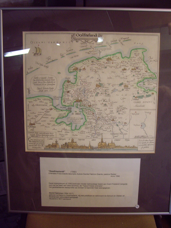 kaart Oostfriesland 1592, gekleurd