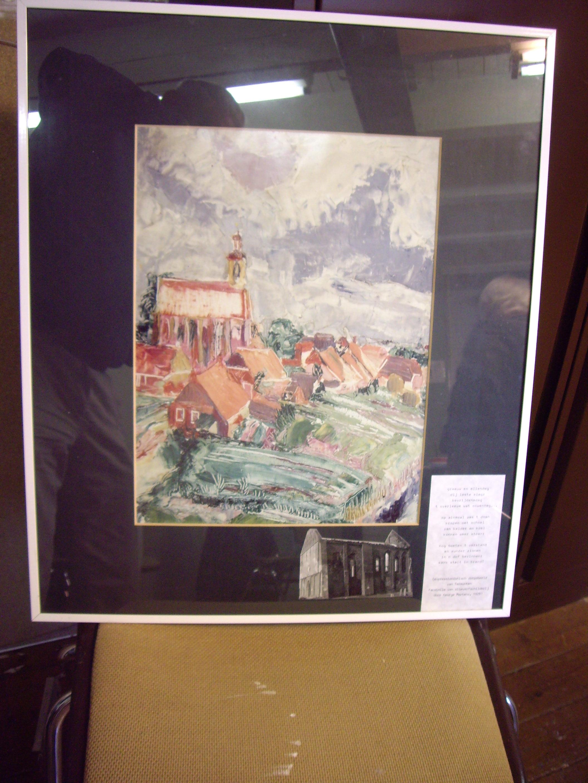 olieverfschilderij, Kerk Termunterzijl, George Martens 1928, copie