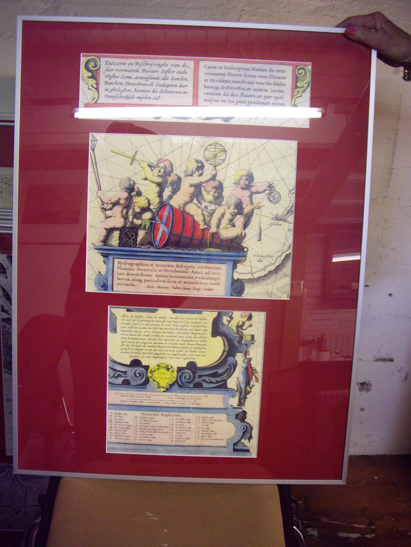 kaart collage, Cartect Decription Marine, etc. Ooster en Westereems