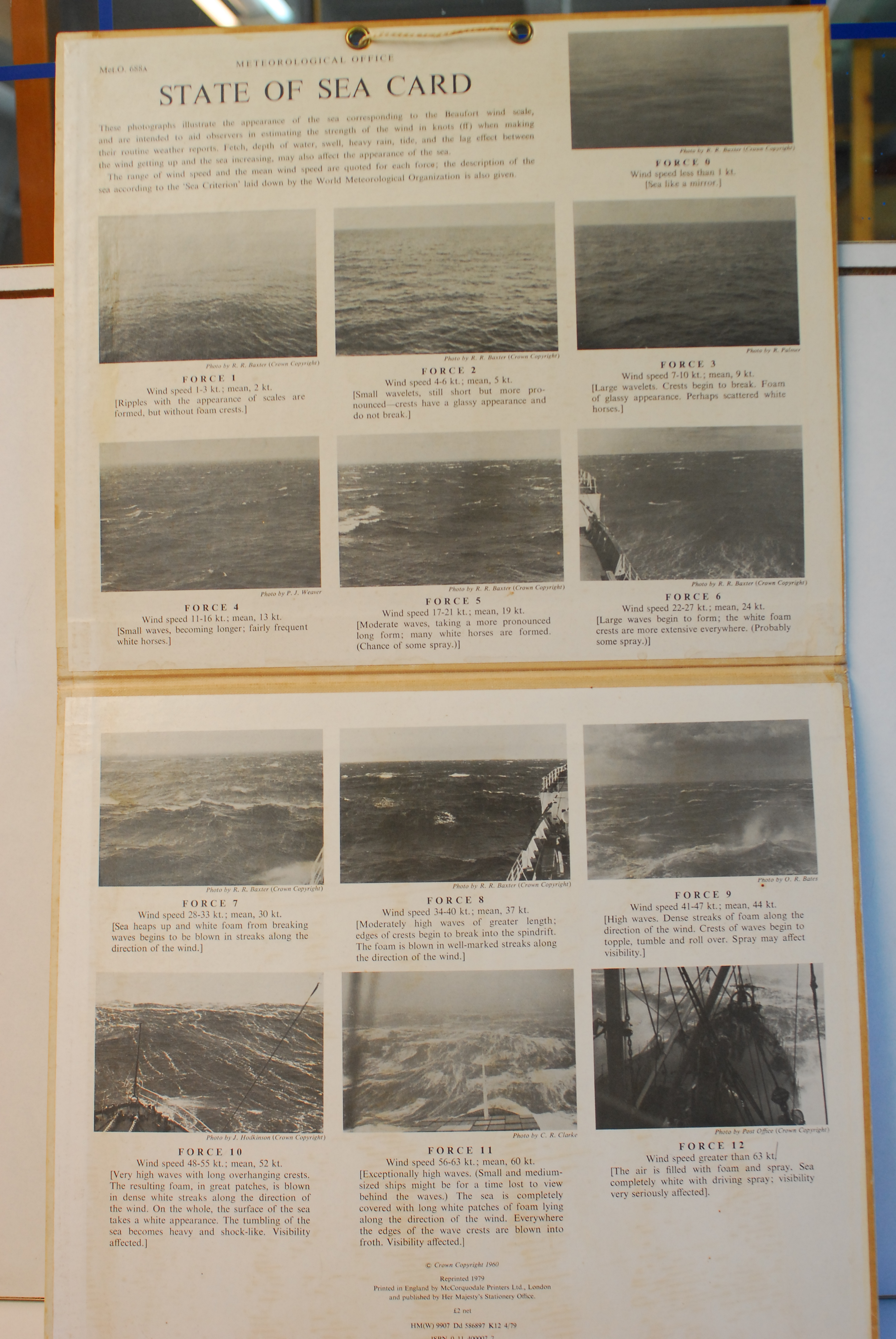 kaart, toestand van de zee in verschillende fasen op een kaart