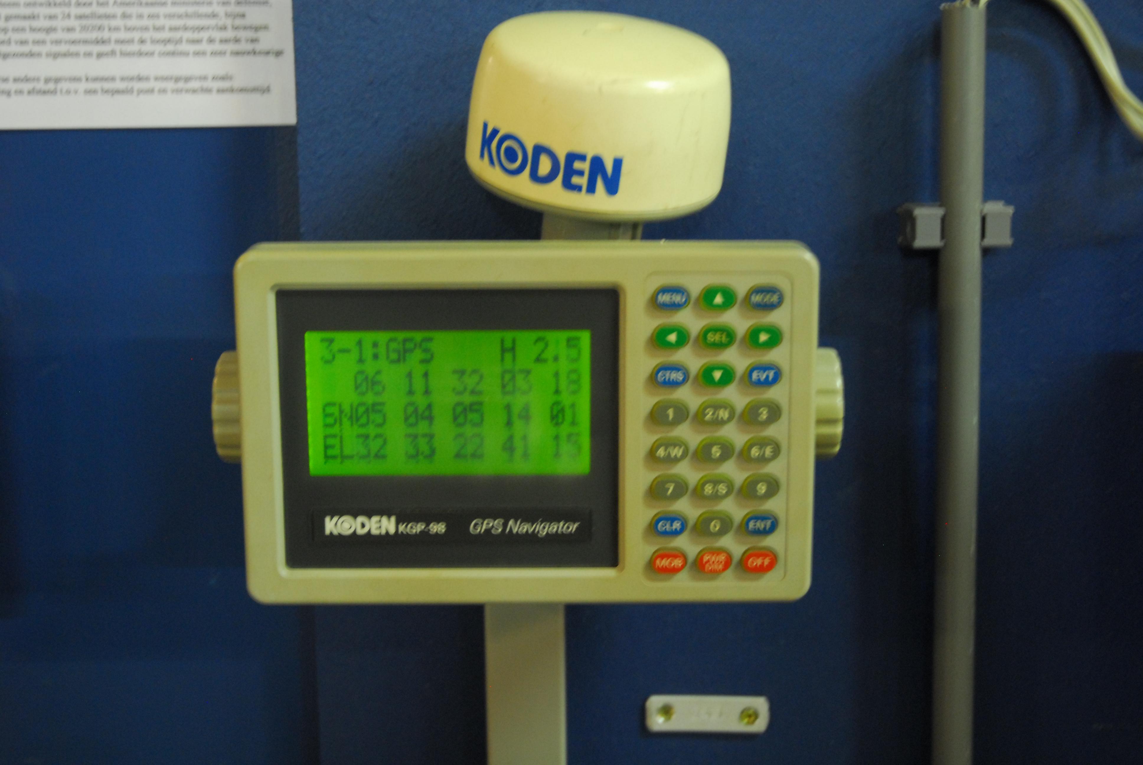gps ontvanger, incl. antenne, merk Koden, nr. 98000437